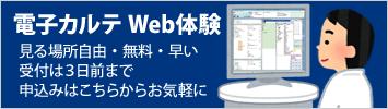 電子カルテ Web体験 受付中!!
