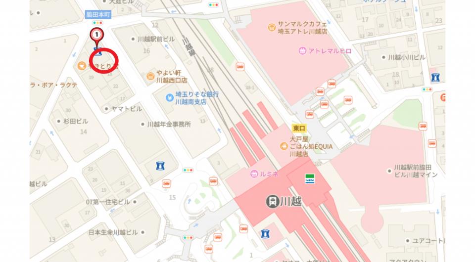 【地図】川越