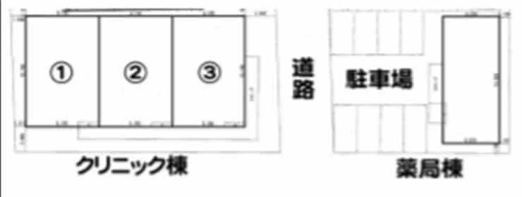 (仮称)淵野辺メディカルセンター 見取図