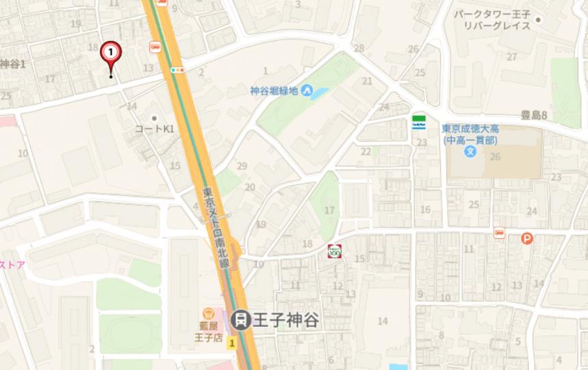 (地図)王子神谷