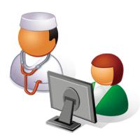 医療クラークとドクター