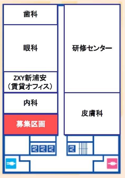 新浦安医療モール 平面図