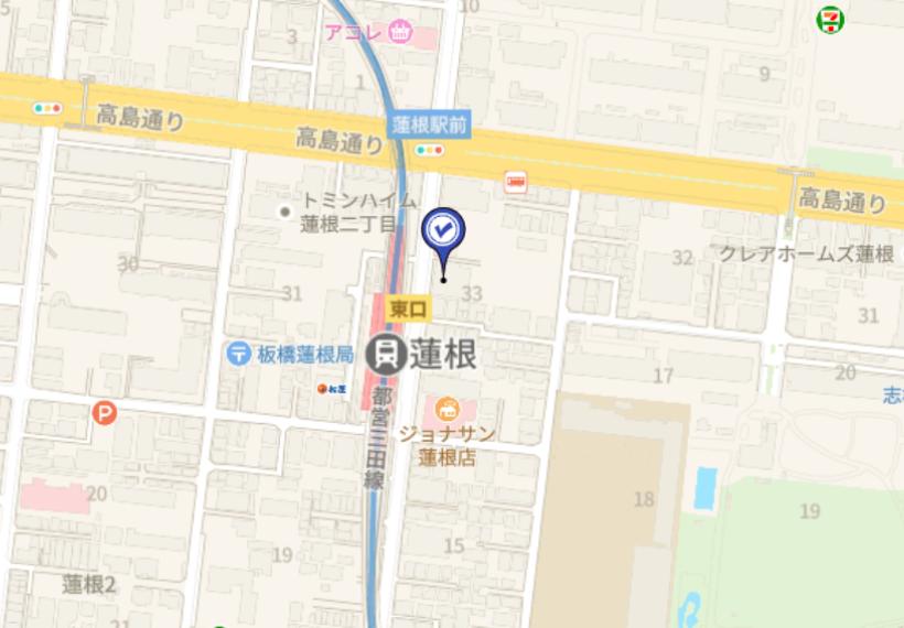 【地図】蓮根