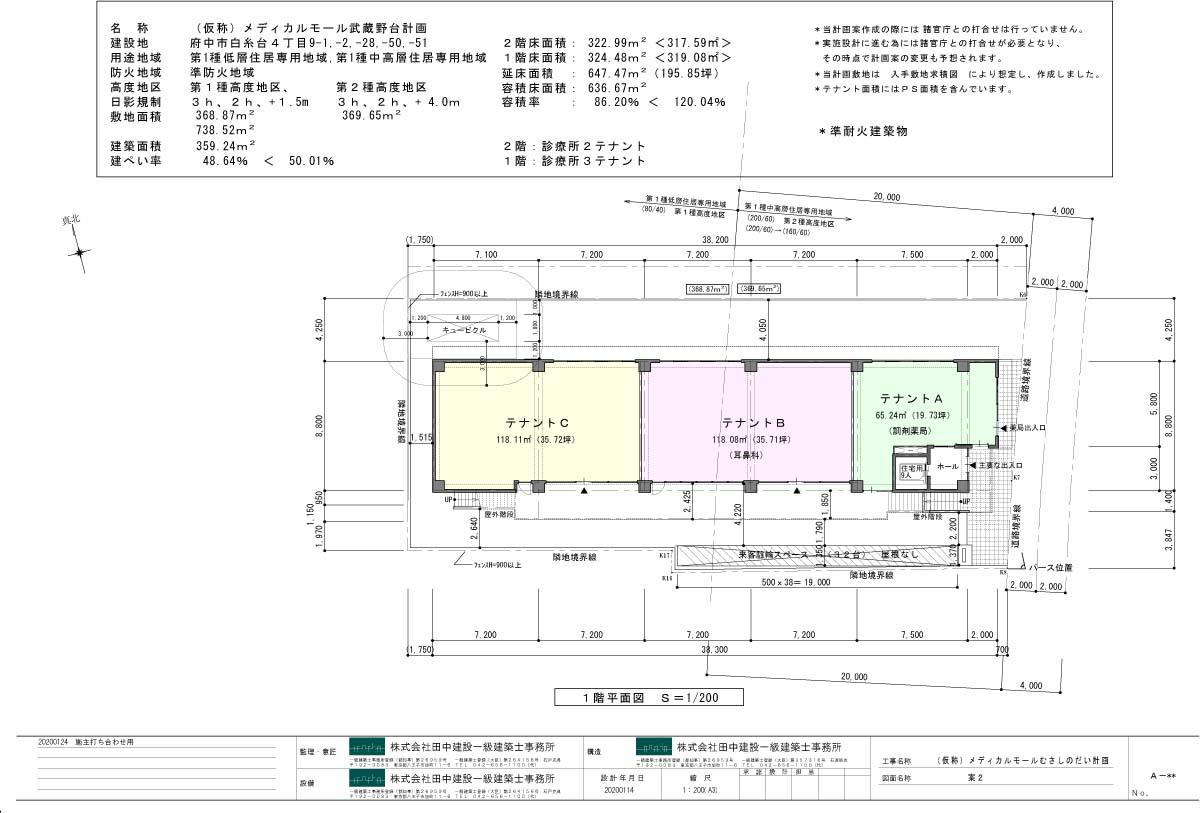 メディカルモール武蔵野台 平面図 1階