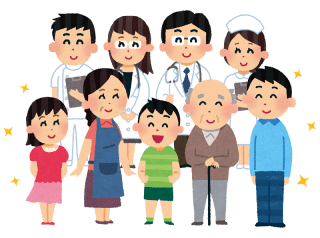 医師と患者のグループ