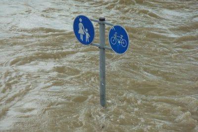 水害を受けた道路